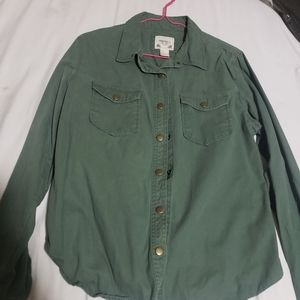 Olive Green Forever 21 button shirt